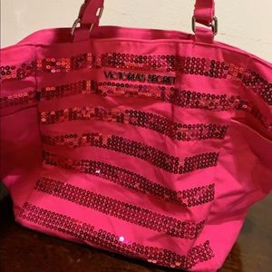 Victoria secret Sequence pink tote